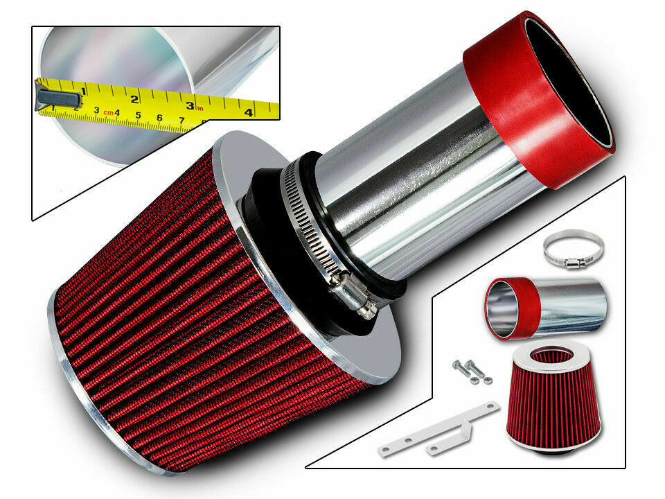 Sport Air Intake Kit   Red Dry Filter For 93