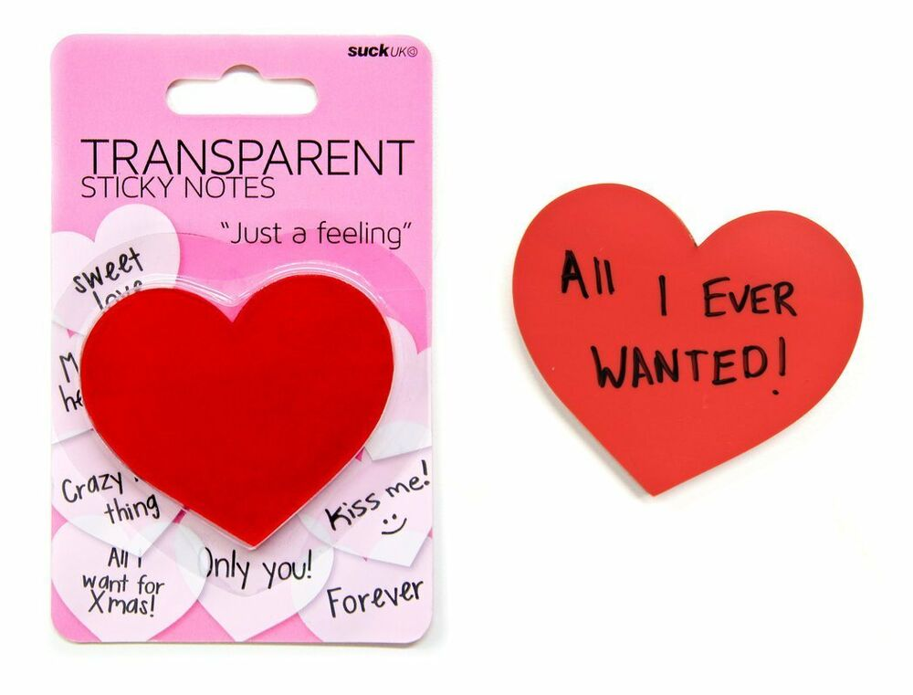 ... Red Heart Shaped Sticky Note Pad,100 sheets Just a Feeling | eBay