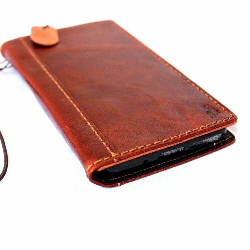 genuine leather hard Case fit HTC ONE M8 book wallet handcraft cover ...