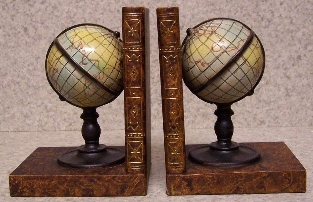 Bookends Medieval World Globe Pair Book Ends Nib Ebay