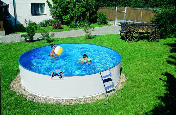 stahlwandbecken schwimmbad w 3 60mx0 90m rundpool leiter poolfolie swimmingpool ebay. Black Bedroom Furniture Sets. Home Design Ideas