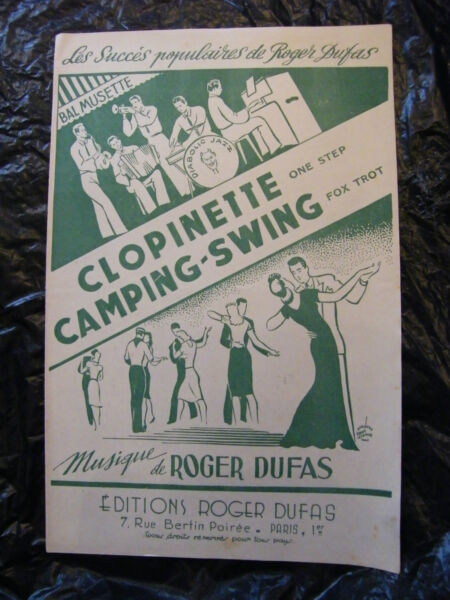 Partition Clopinette Camping Swing Roger Dufas 1949