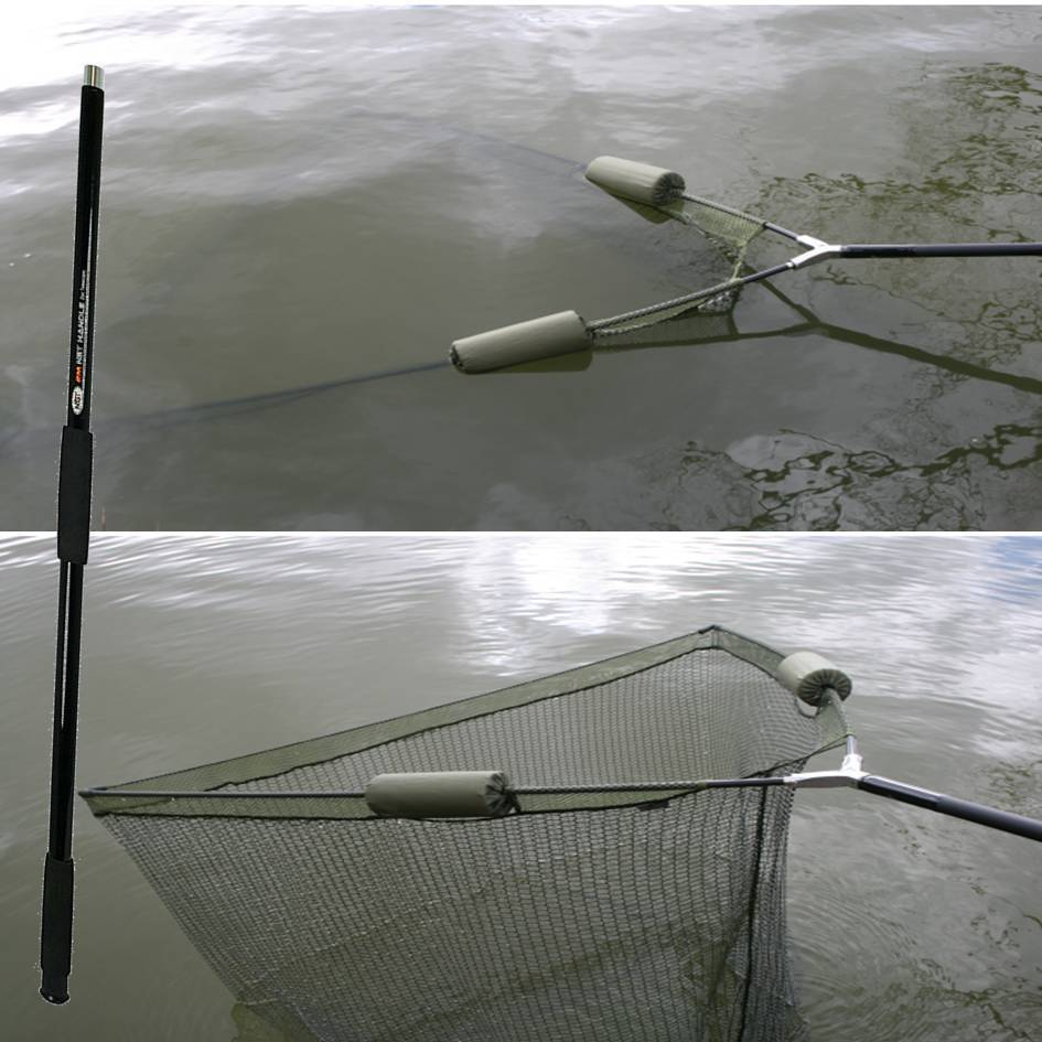 42 inch carp pike fishing landing net 2m handle dual 2 for Fishing net floats