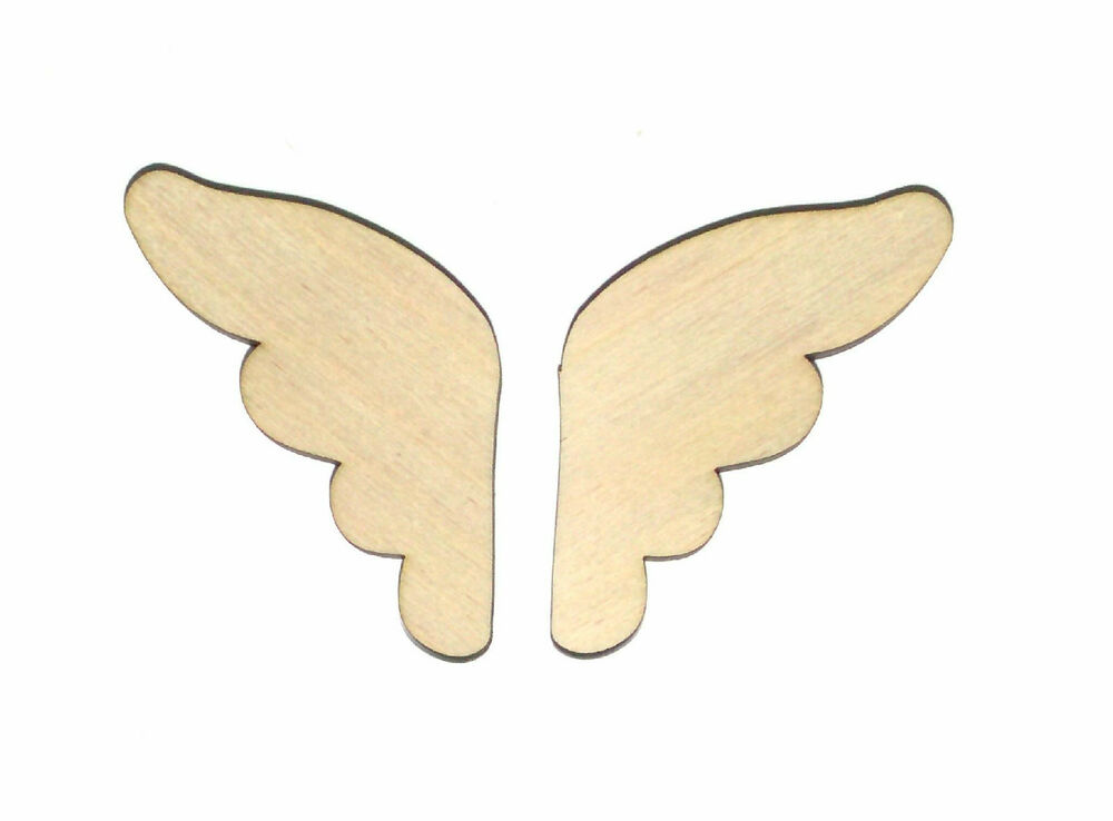Angel Wings Unfinished Wood Shape Cut Out AW8817 Laser