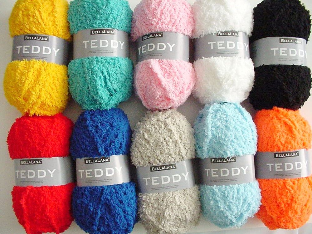 50g teddy superweiche wolle in 10 farben extra kuschelig kuscheltiere stricken ebay. Black Bedroom Furniture Sets. Home Design Ideas