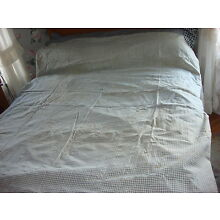 Antique Early TICK COVER Blue & White Check, Navy Blue Check  84