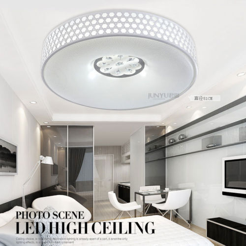 Modern acrylic 38cm 51cm led ceiling lights living room for Ebay living room lights