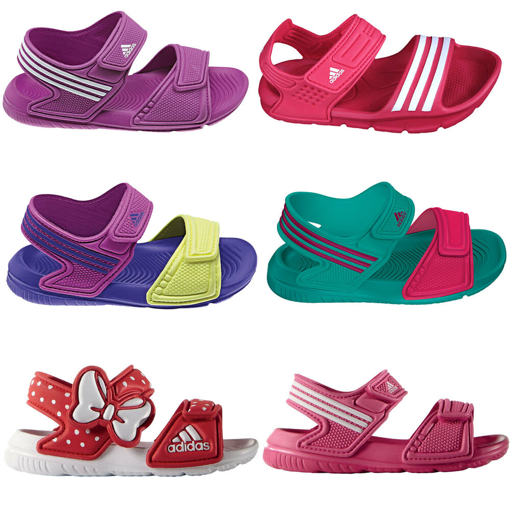 adidas performance akwah kinder badeschuhe sandalen strandschuhe m dchen schuhe ebay. Black Bedroom Furniture Sets. Home Design Ideas