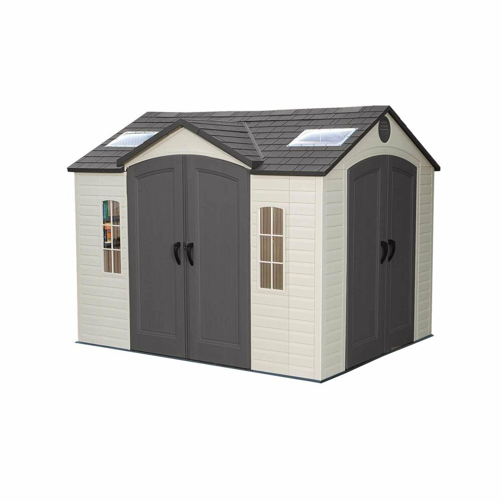 Commercial storage shed 10 39 w x 8 39 d dual entry shatter for Sheds storage buildings