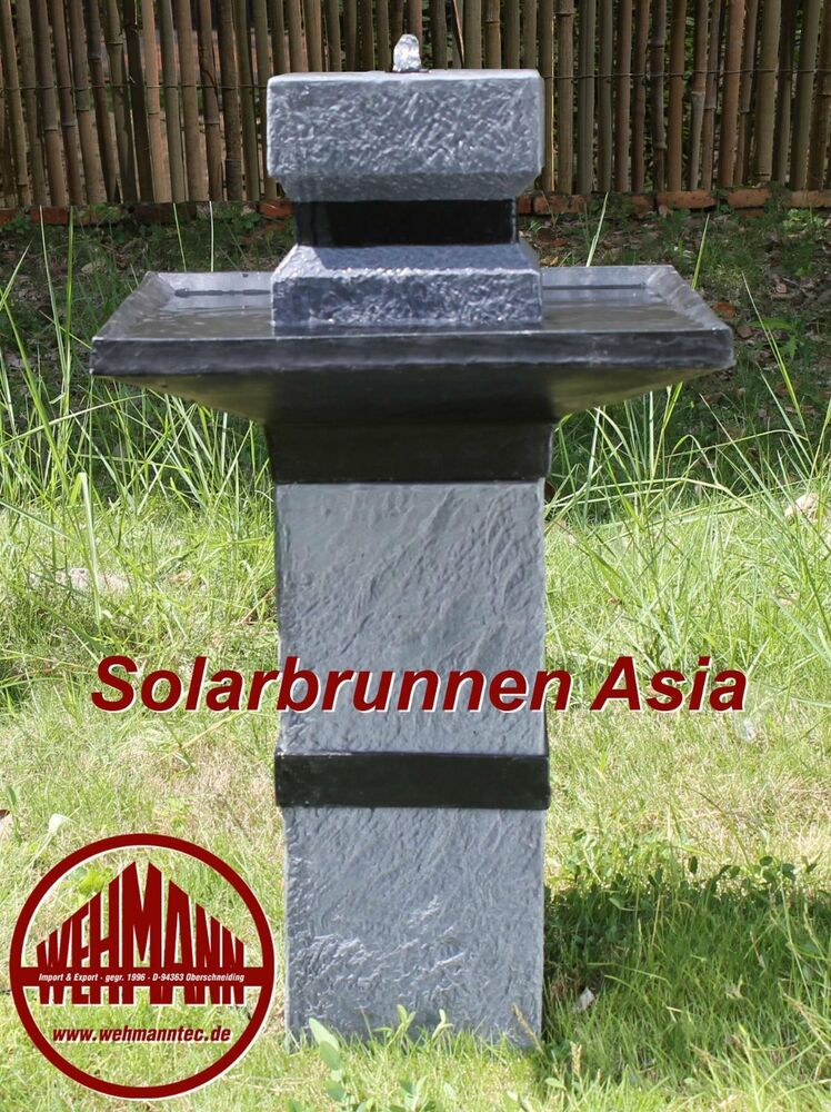 solarbrunnen asia solarspringbrunnen zengarten brunnen solar brunnen toppreis ebay. Black Bedroom Furniture Sets. Home Design Ideas