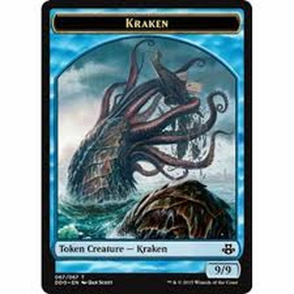 Kraken Token Card X4 Nm Duel Decks Elspeth Vs Kiora
