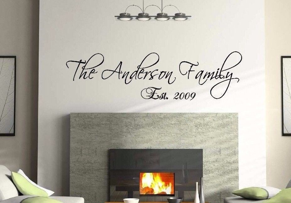 36 personalized custom family name wall decal vinyl