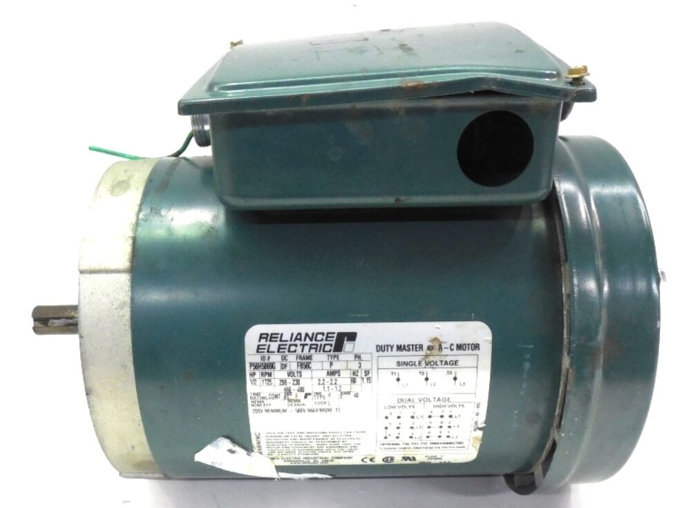 Reliancer electric ac motor p56h5069g 5 hp 3 ph rpm for 3 phase motor hp to amps
