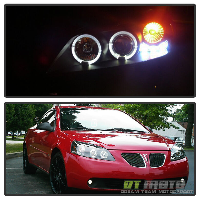 G6 Led Lights : Blk  pontiac g led halo projector headlights