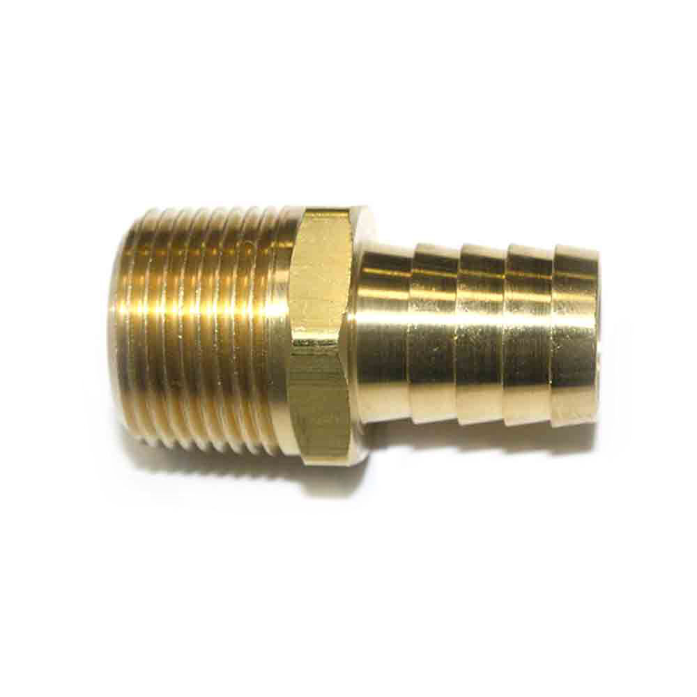 brass hose barb fitting connector 3 4 barb x 3 4 npt male end fm99 ebay. Black Bedroom Furniture Sets. Home Design Ideas