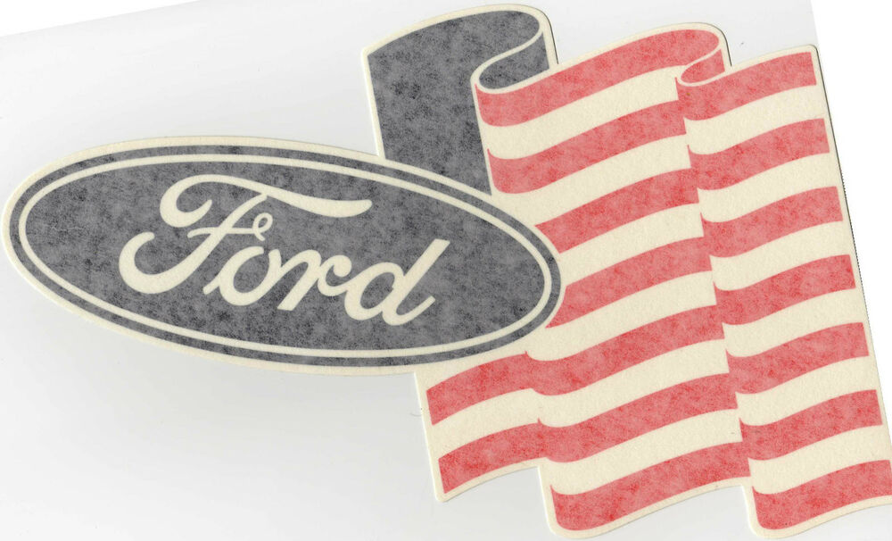 Old Ford Trucks Decals : Very rare ford motorsport us flag vintage race car decal