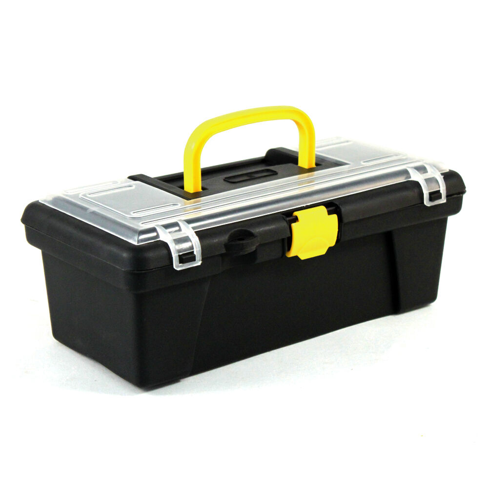 Universal home dual compartment hobby craft tool box ebay for Craft storage boxes with compartments