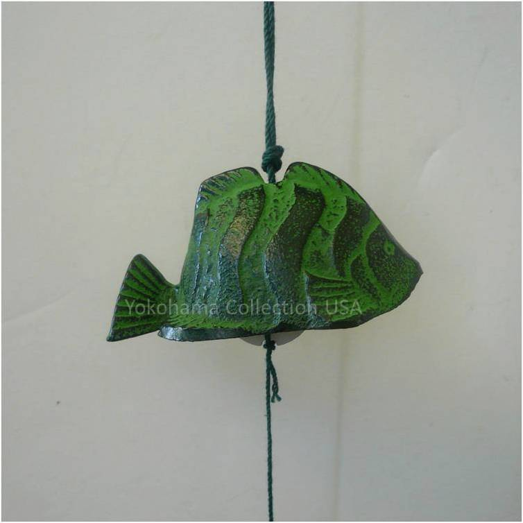 Japanese tropical fish furin wind chimes cast iron made in for Iron in fish