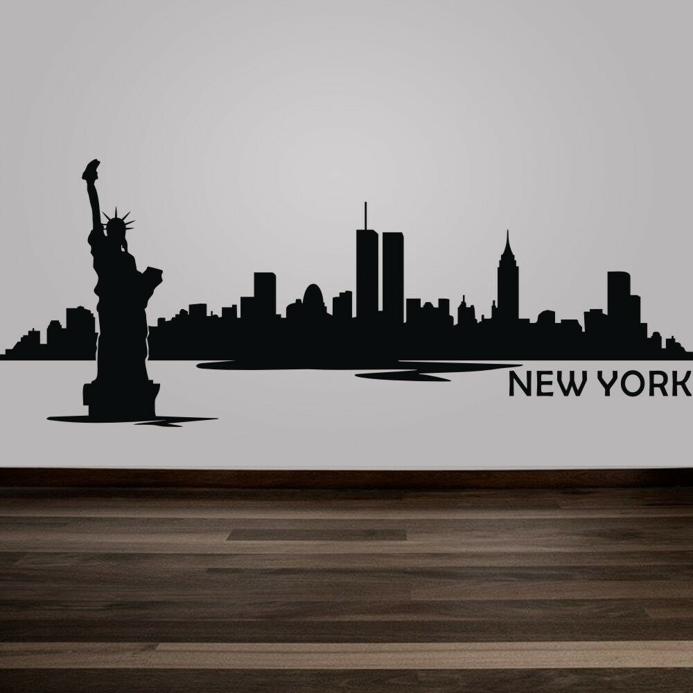 New york city wall decal inspiration nyc skyline removable for New york city decor