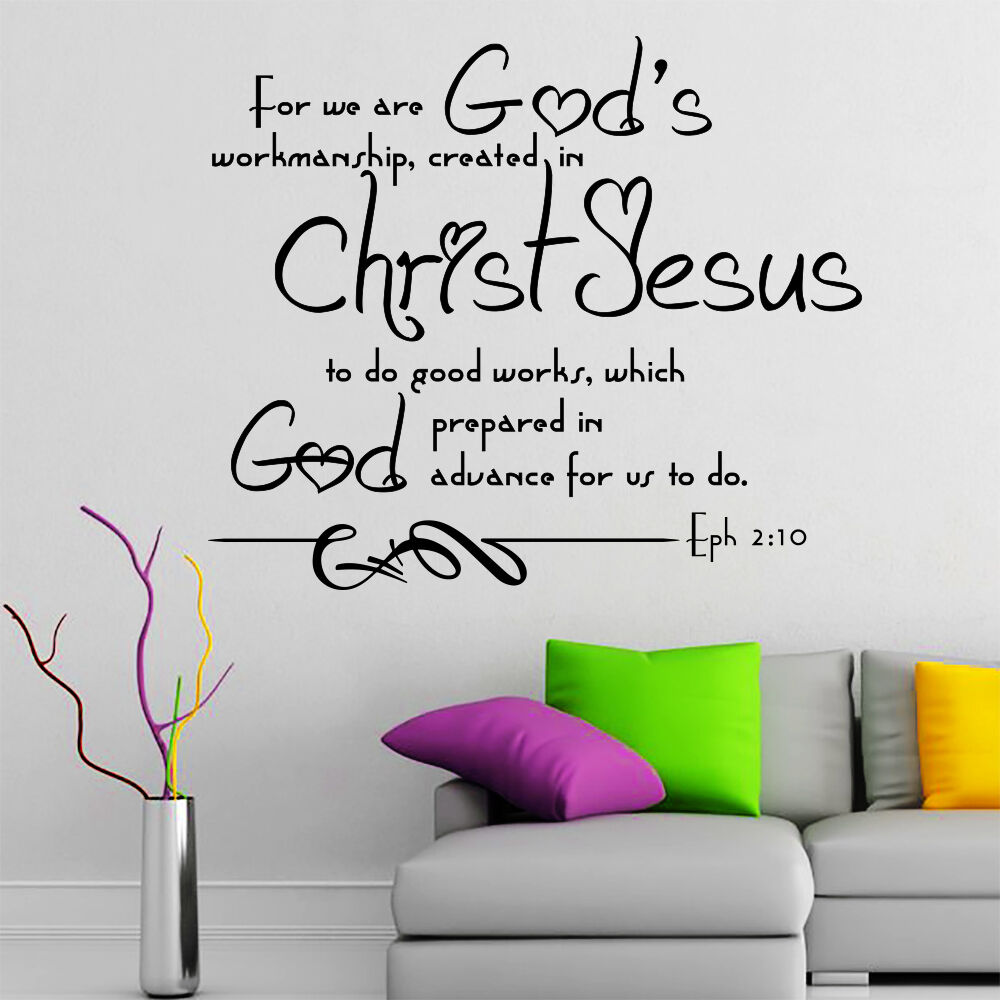 wall decal bible verse psalms ephesians 2 10 for we are