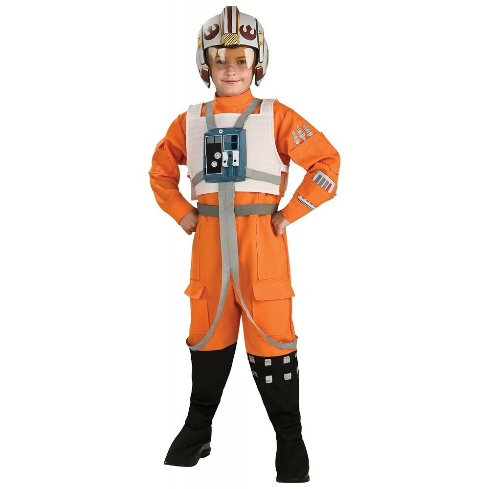 x wing pilot luke skywalker costume star wars halloween fancy dress ebay. Black Bedroom Furniture Sets. Home Design Ideas