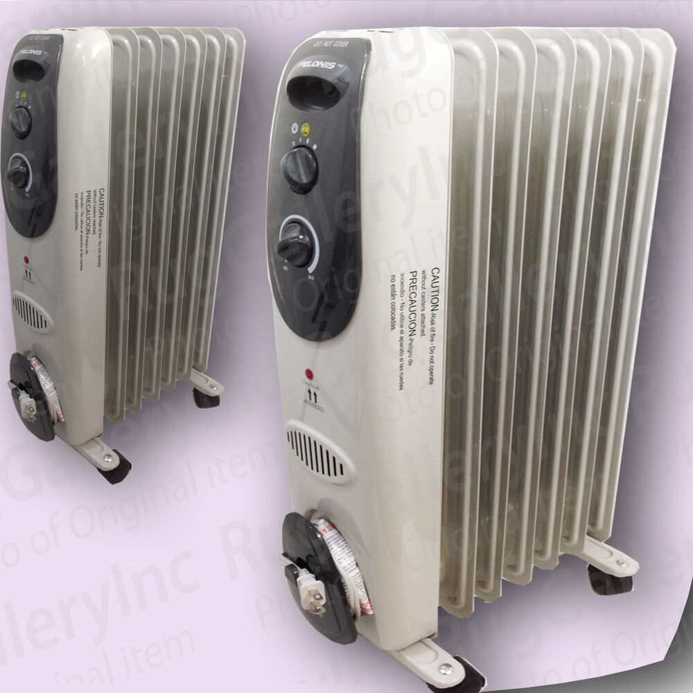 Lot 2 Pelonis Oil Filled Heater Radiator Convection