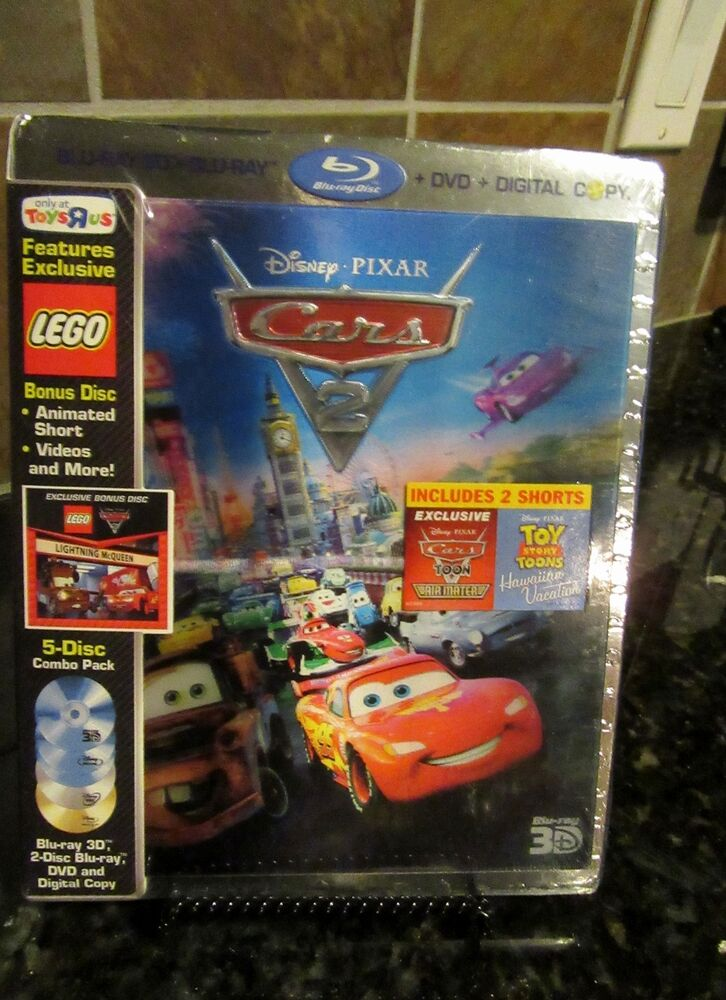 cars 2 blu ray dvd 2011 5 disc set includes digital copy 3d new sealed 786936817294 ebay. Black Bedroom Furniture Sets. Home Design Ideas
