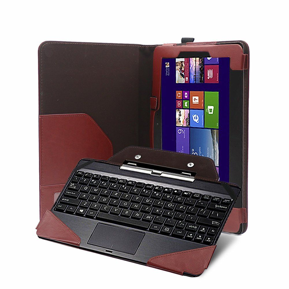 Folio PU Keyboard Leather Case Cover For Asus Transformer Book T100TA T100 10.1