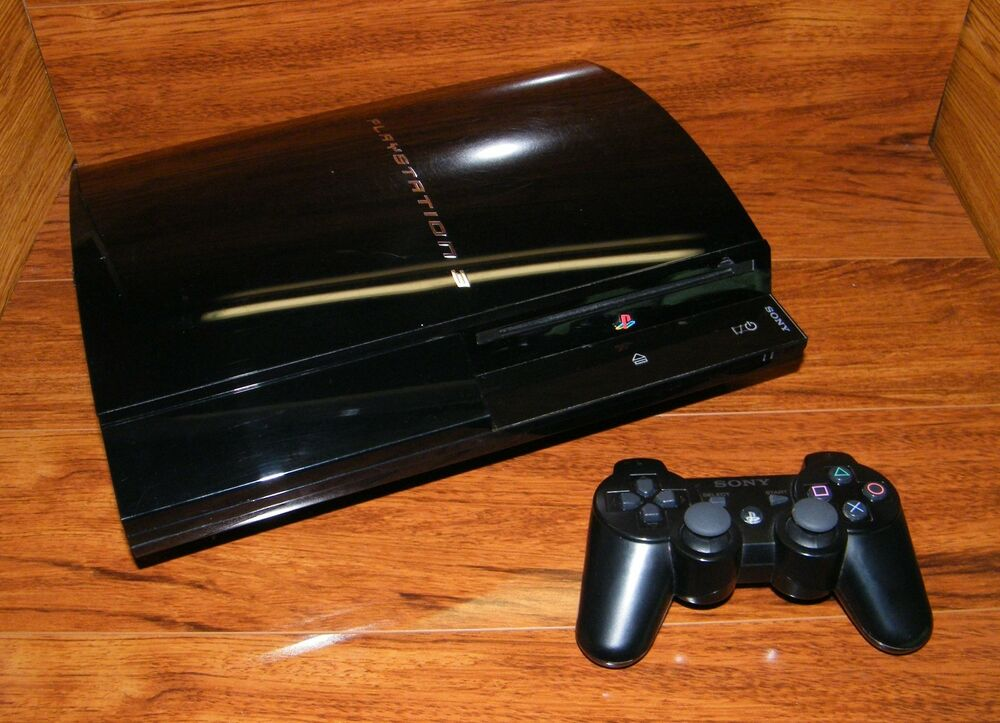 sony playstation 3 20 gb backwards compatible firmware console ntsc read 711719800101 ebay. Black Bedroom Furniture Sets. Home Design Ideas