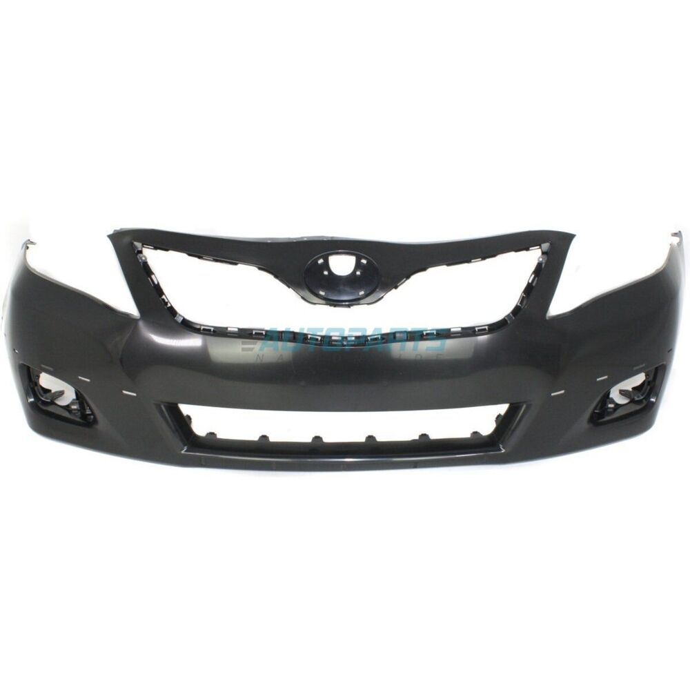 new 2010 2011 fits toyota camry front bumper cover primed to1000355 ebay. Black Bedroom Furniture Sets. Home Design Ideas
