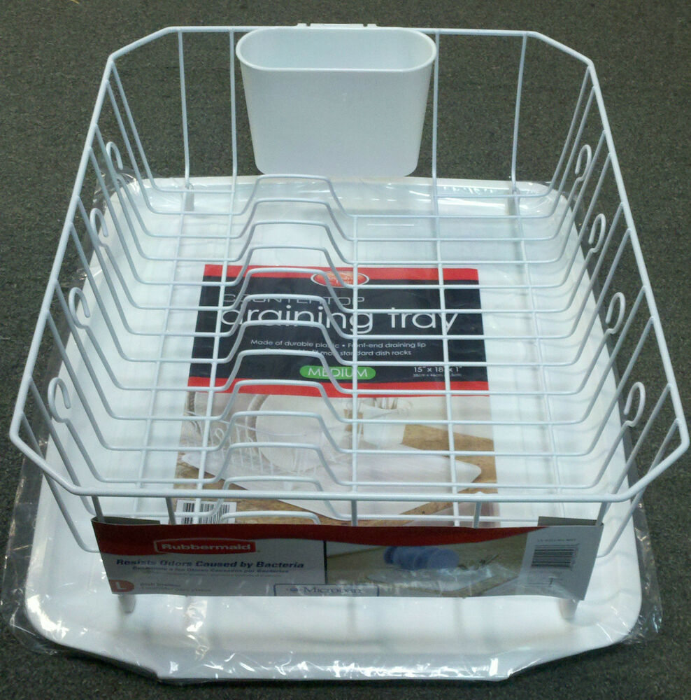 Rubbermaid Dish Drainer Rack Set W Sloped Kennedy S Tray