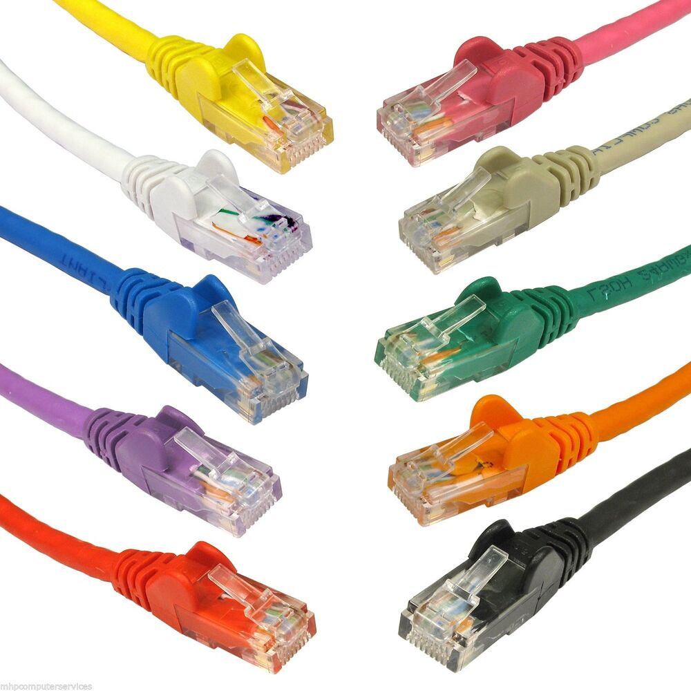 cat6 rj45 ethernet network patch lead cable cat 6 to 5m 10 colours ebay. Black Bedroom Furniture Sets. Home Design Ideas