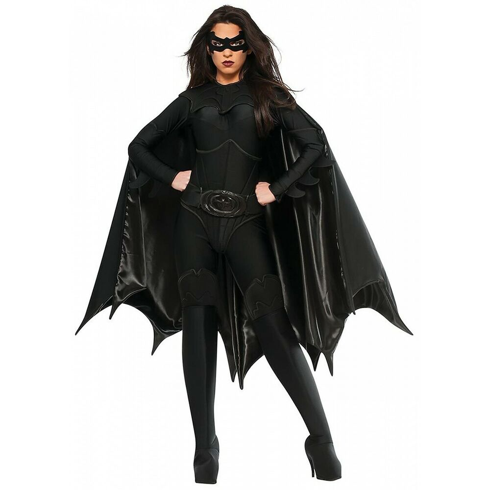 Batgirl Costume Adult Sexy Halloween Fancy Dress | eBay