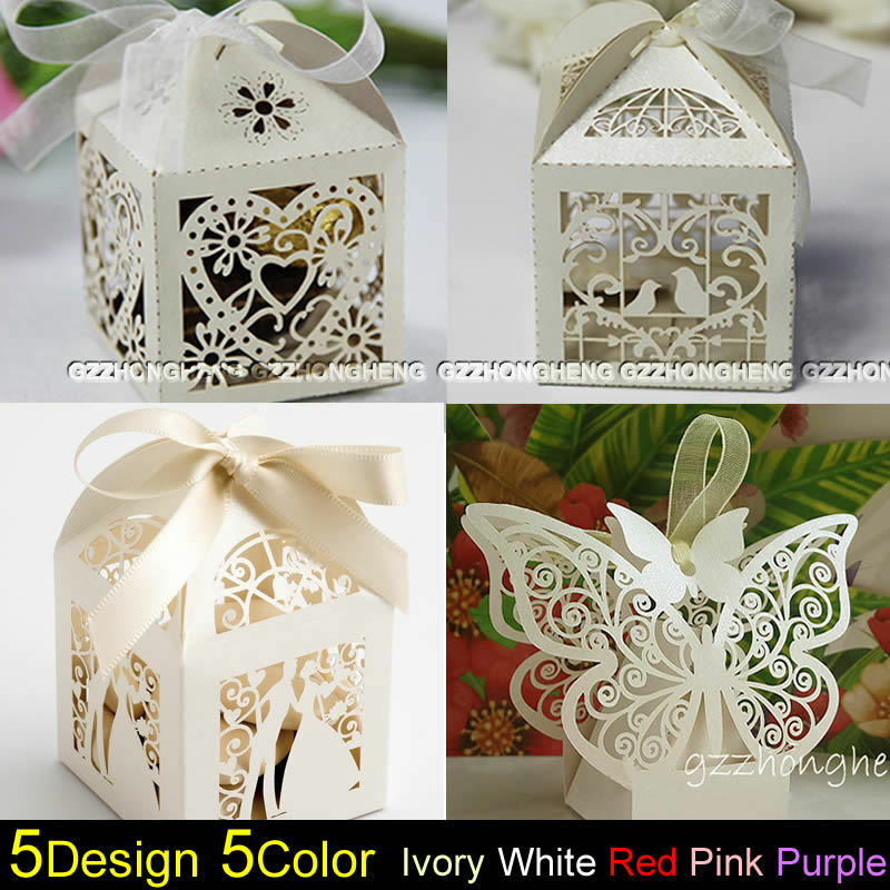Luxury Wedding Party Sweets Cake Candy Gift Favour Favors Boxes Table Decor