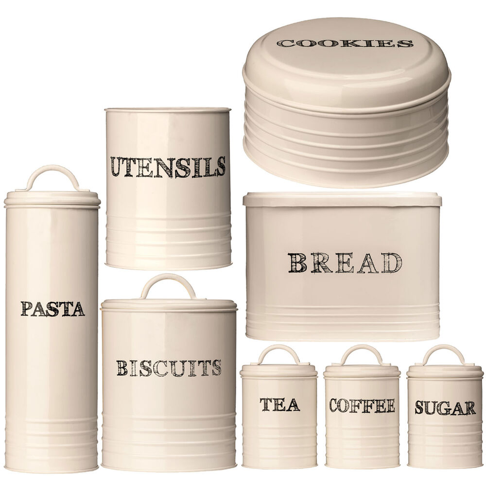 Cream Kitchen Storage Jars: Sketch Cream Kitchen Home Tea Coffee Sugar Biscuit Cookie