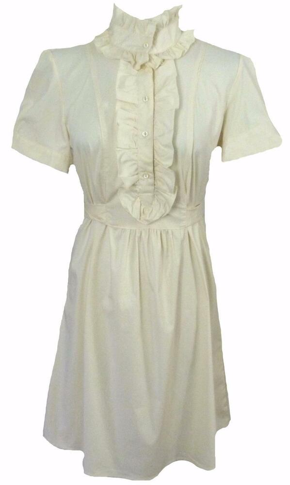 New Edwardian Frill High Neck Dress Tunic Victorian