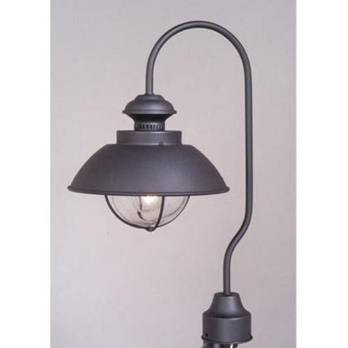 new 1 light nautical outdoor post lamp lighting fixture black clear