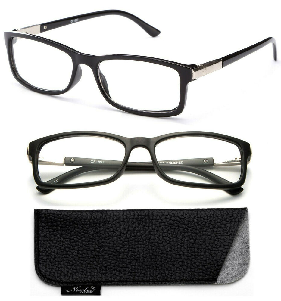 Classic Black Frame with Non Prescription Clear ...