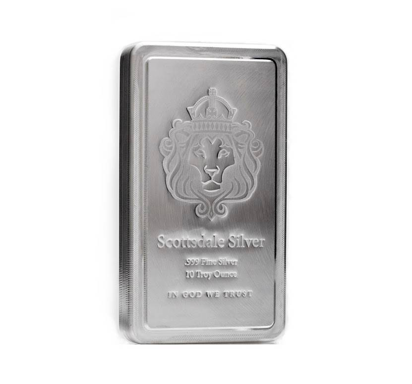 10 Oz Scottsdale Stacker 174 Silver Bar 999 Silver A182 Ebay