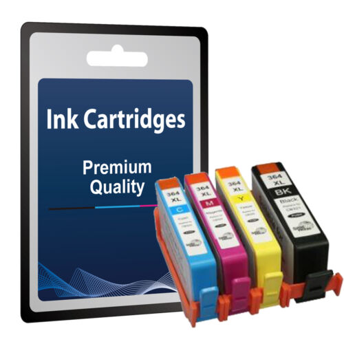 4 ( 1 Set ) Ink Cartridges replace for HP 364 XL - High Capacity