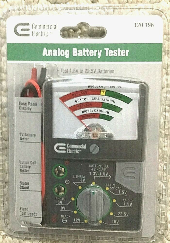new battery tester w leads for testing watch batteries. Black Bedroom Furniture Sets. Home Design Ideas