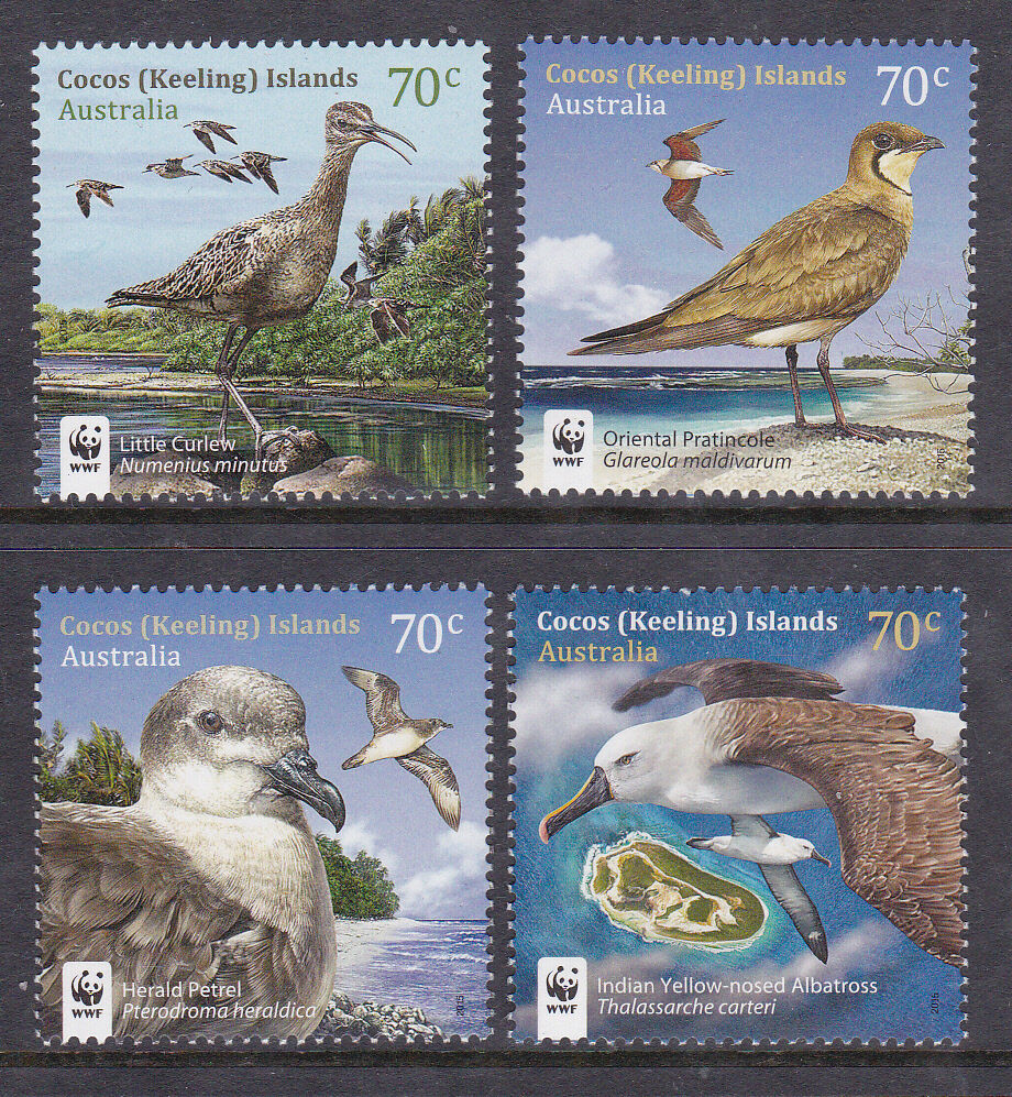 Cocos Island: 2015 Visiting Birds Of Cocos Island - MUH Complete Set