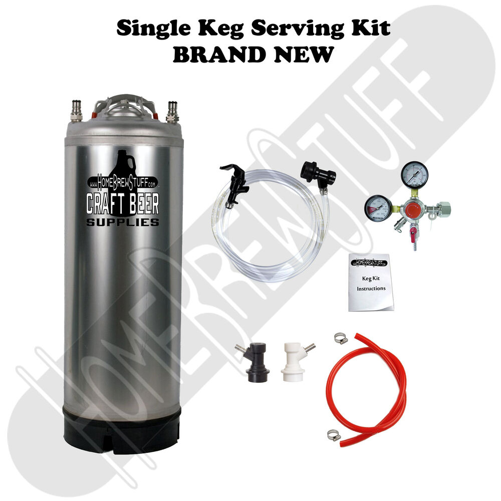 1 Keg Serving Tap Picnic Kit Ball Lock Co2 Regulator