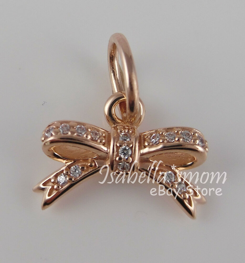 Sparkling Bow 100 Genuine Pandora Rose Gold Plated Clear