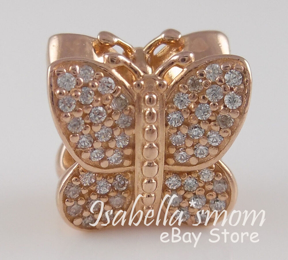 Sparkling butterfly 100 authentic pandora rose gold for Is gold plated jewelry worth anything