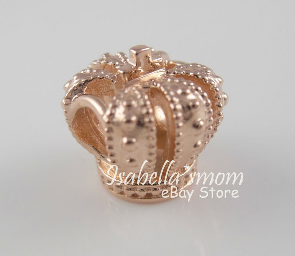 Royal Crown 100 Authentic Pandora Rose Gold Plated Charm