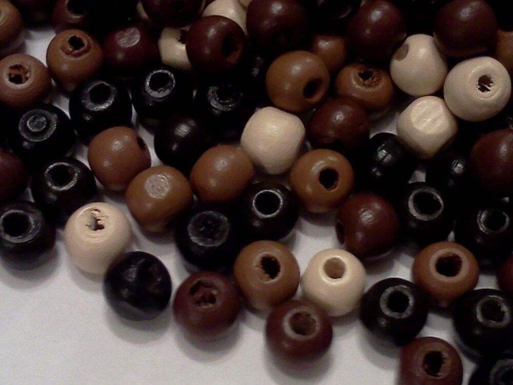 300pcs new wholesale mixed color wooden beads for jewelry. Black Bedroom Furniture Sets. Home Design Ideas