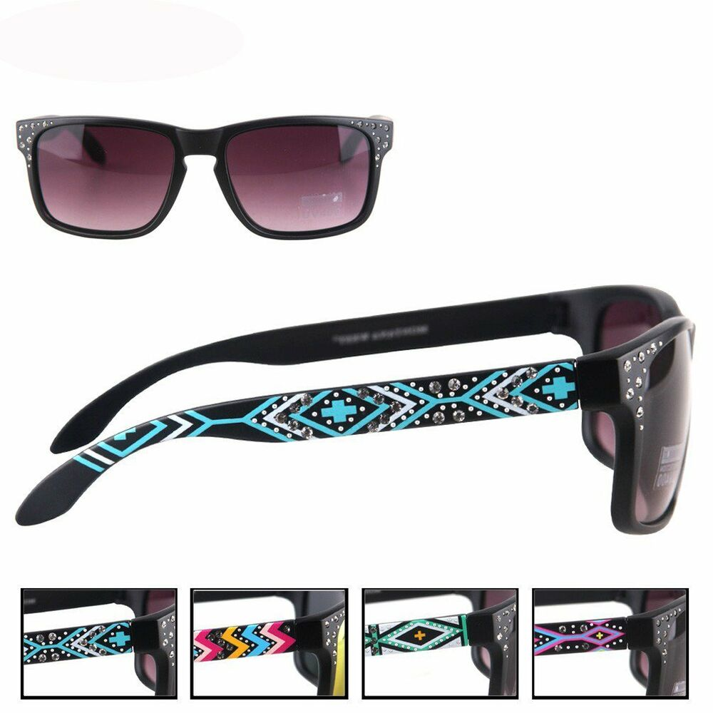 Thin Frame Black Glasses : Montana West Ladies Sunglasses Aztec Design Collection ...