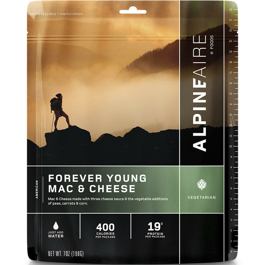 AlpineAire Forever Young Mac & Cheese 2-Serving Freeze Dried Camping ...
