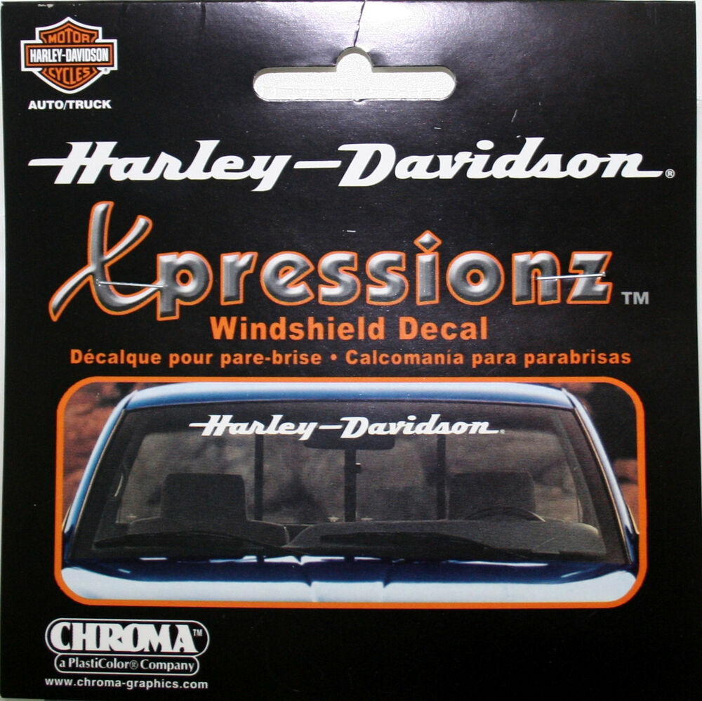 Details about harley davidson motorcycle bike front window decal sticker bar shield ride hd